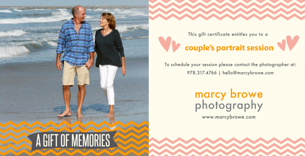 couple portrait, gift certificate, beach portrait