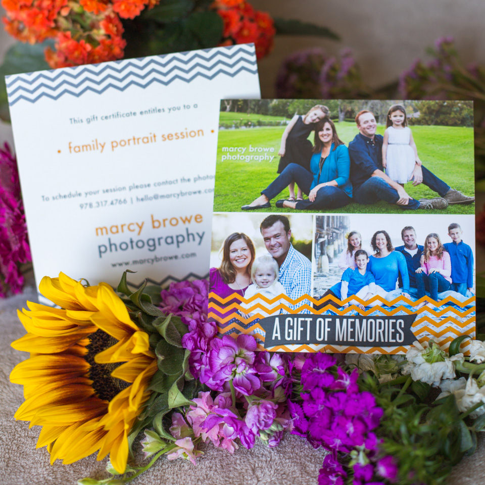 gift certificate for a family photo session