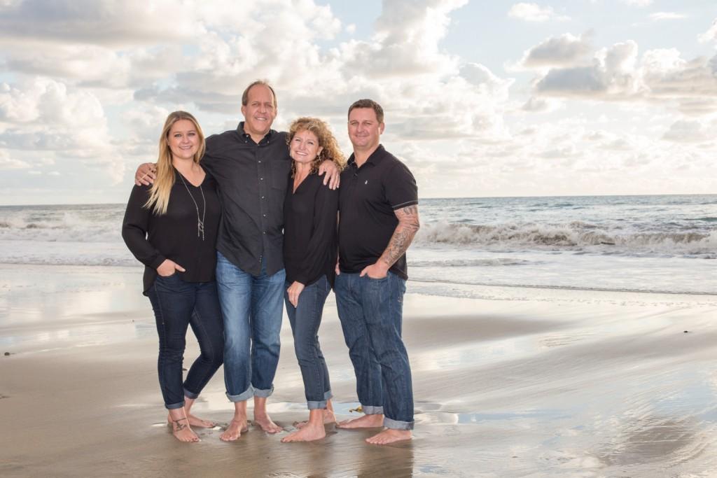 family photos on the beach in Oceanside