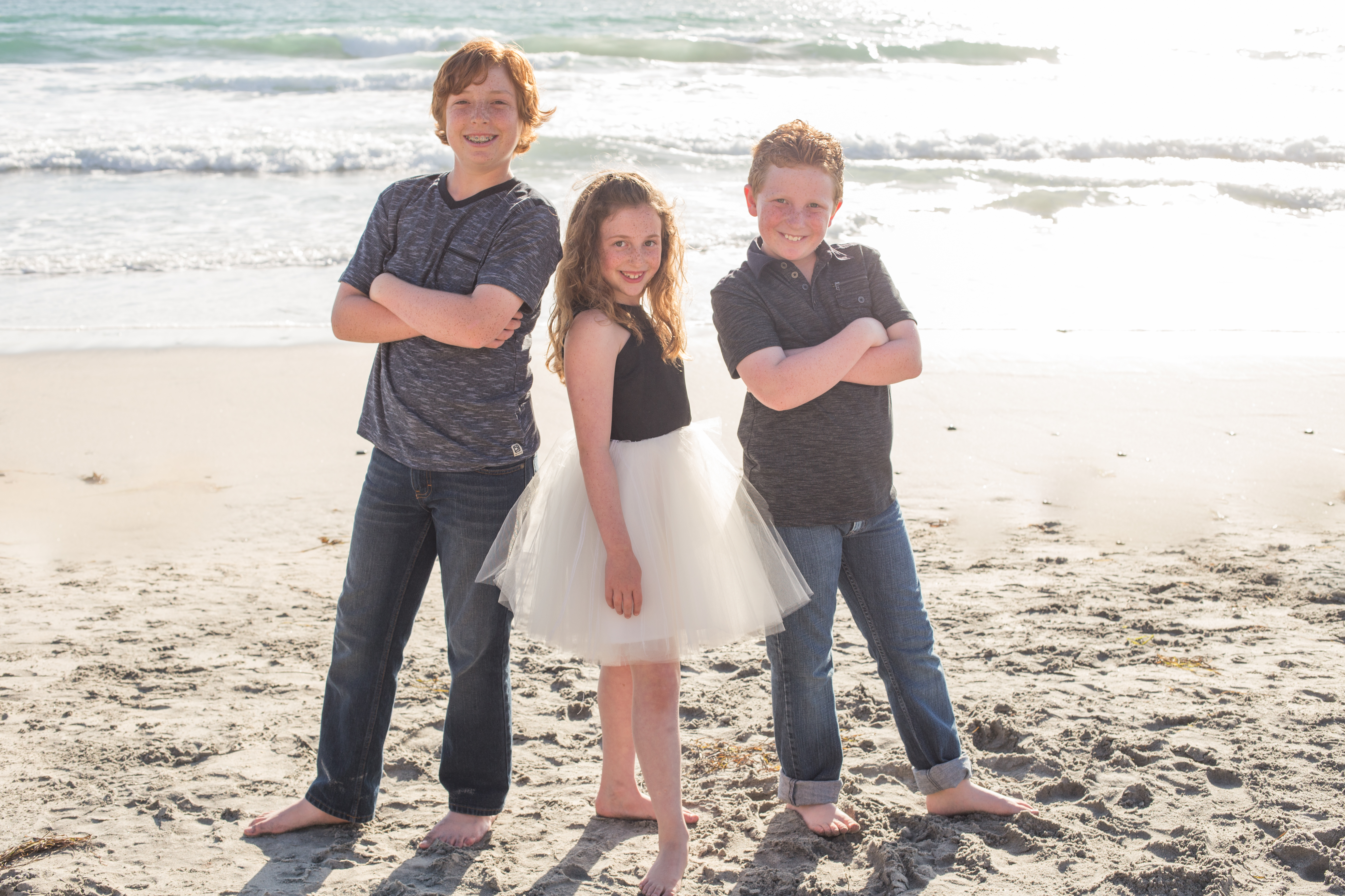 Kaiden family on the beach