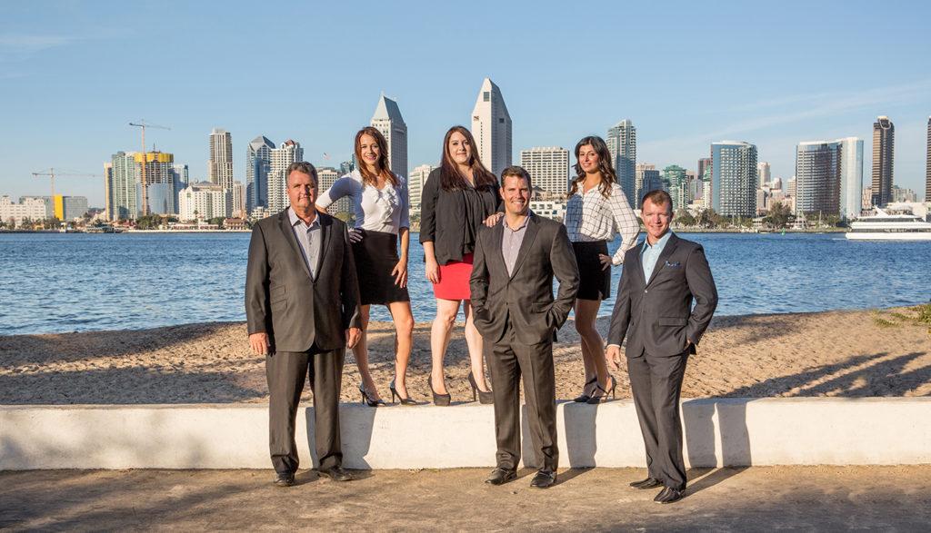 san diego skyline real estate team portrait