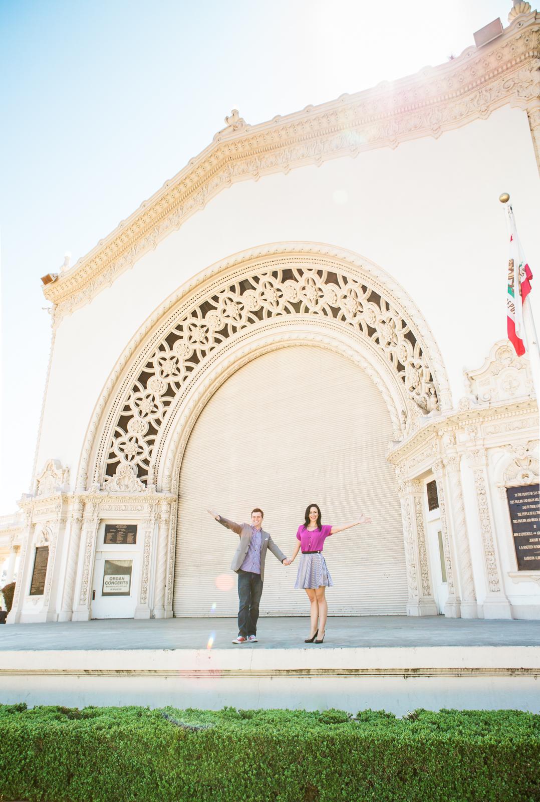 engagement photos Balboa Park