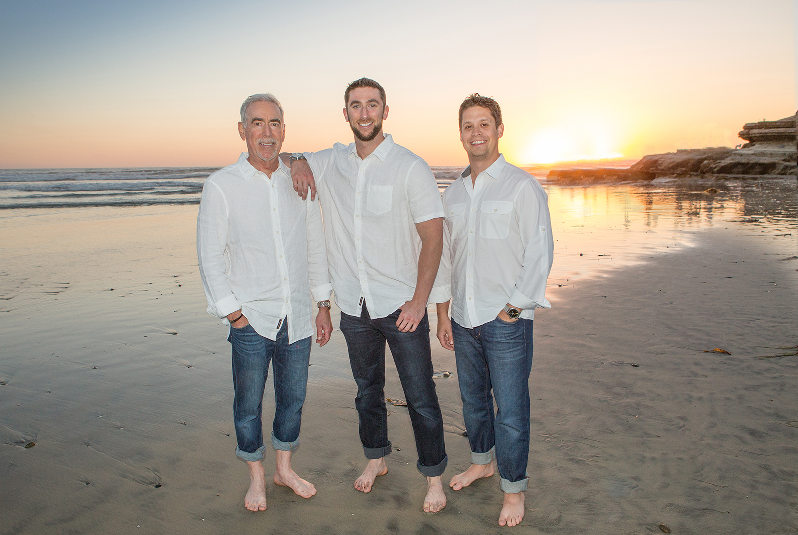 family photos taken on the beach in Del Mar by a professional photographer in San Diego and Oceanside.