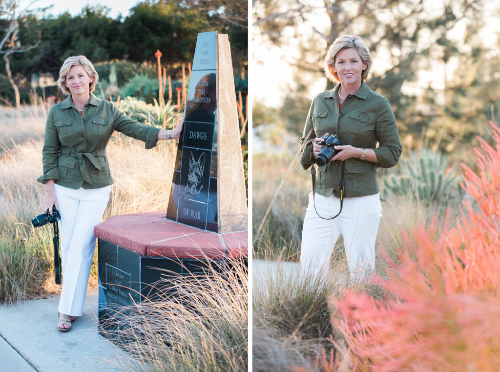 Branding photos for San Diego journalist and military veteran