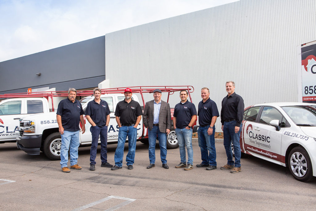 Team photos and headshots for Classic Home Improvements